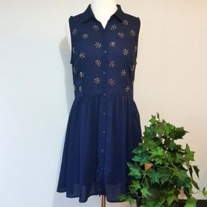 Coincidence & Chance Sleeveless Button Front Dress